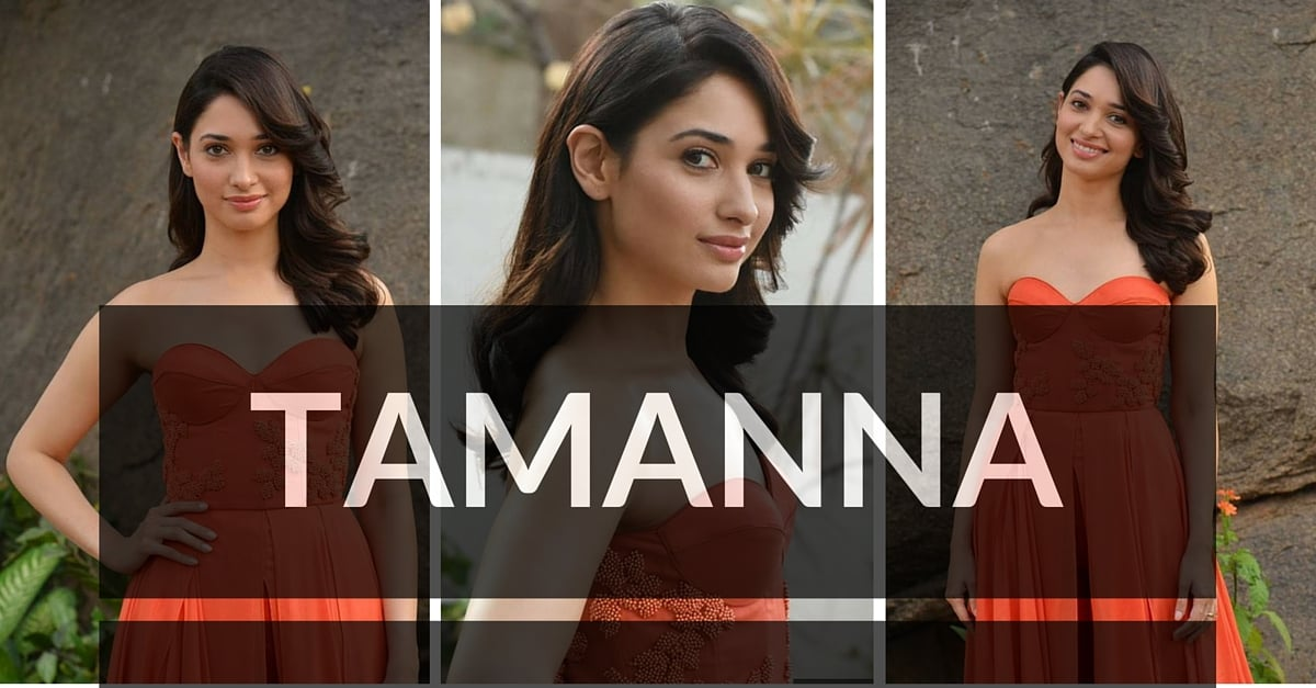 Tamanna Photos in Orange Dress – HD Images