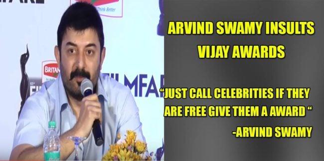 Arvind Swamy insults Vijay Awards ? 1