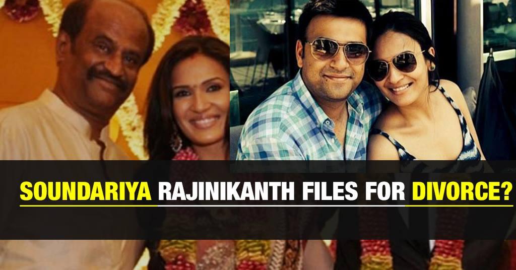 Rajinikanth's Daughter Files for Divorce 1