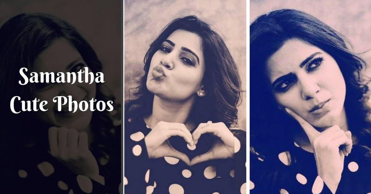 samantha cute photos in black dress   tamilglitz