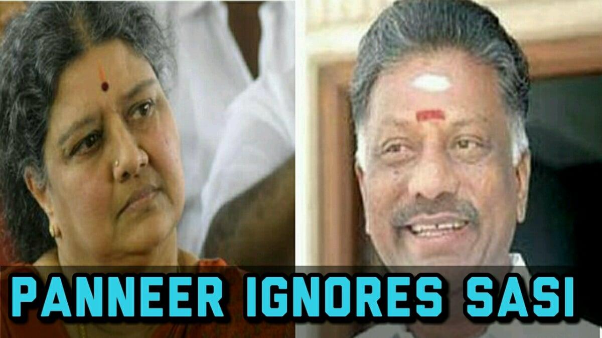 Panneer ignores Sasi - SHOCKING NEWS 1