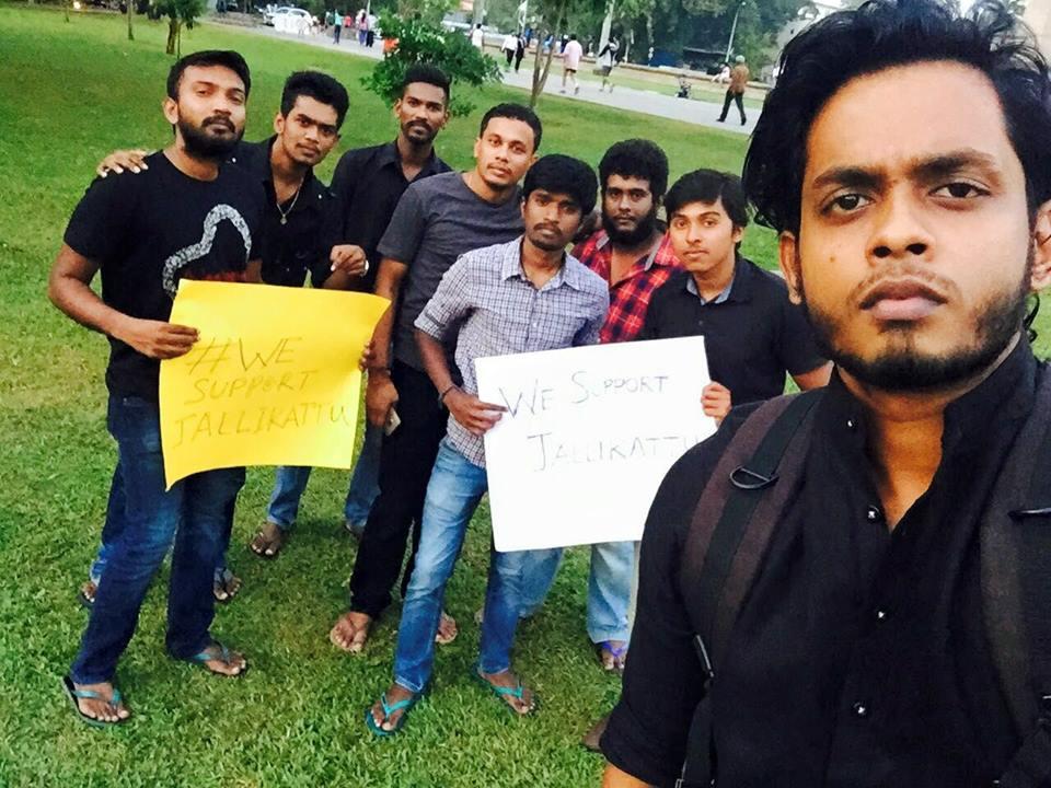 Protest for Jallikattu by Sri Lankan Tamils 2