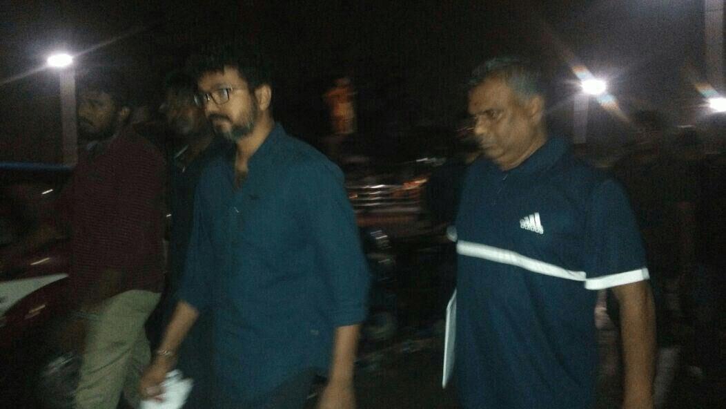 Vijay in Marina Protest and Avoided Nadigar Sangam Protest 4