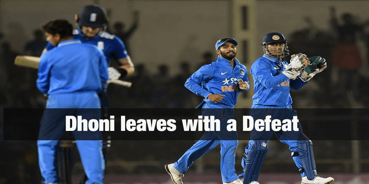 Dhoni leaves with a Defeat 6