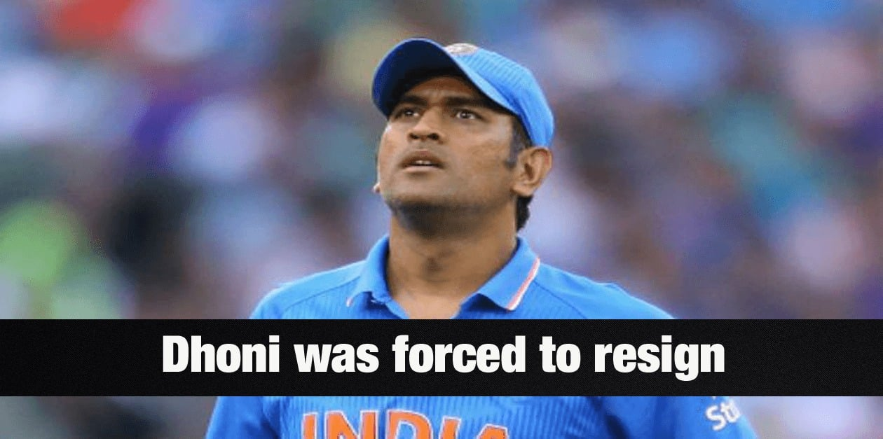 Did BCCI force Dhoni to resign? 7