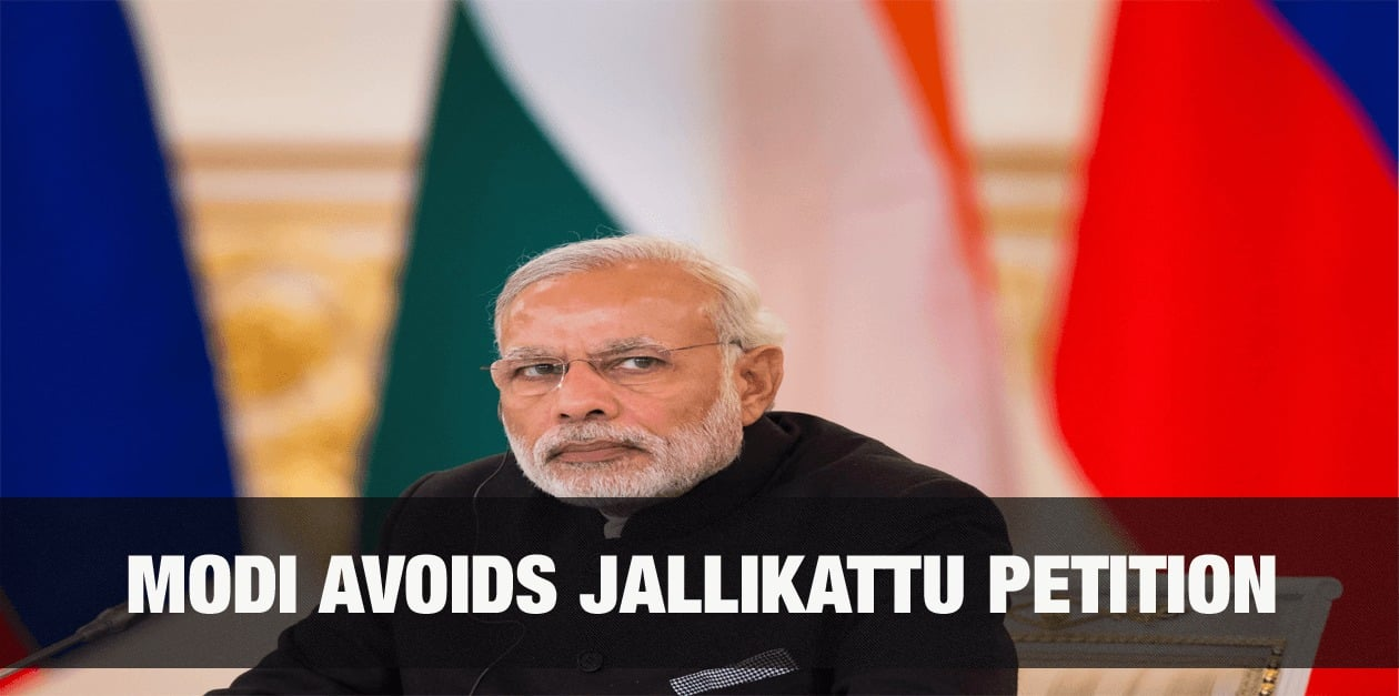 Modi avoids Jallikattu Petition 2