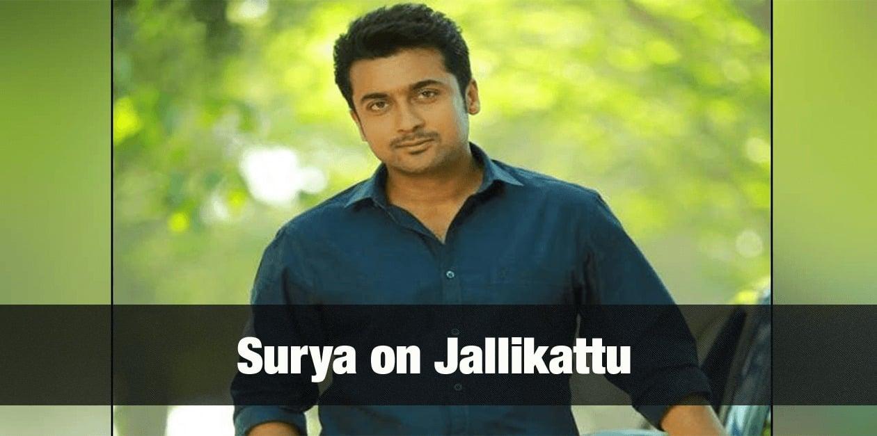Surya on Jallikattu 22