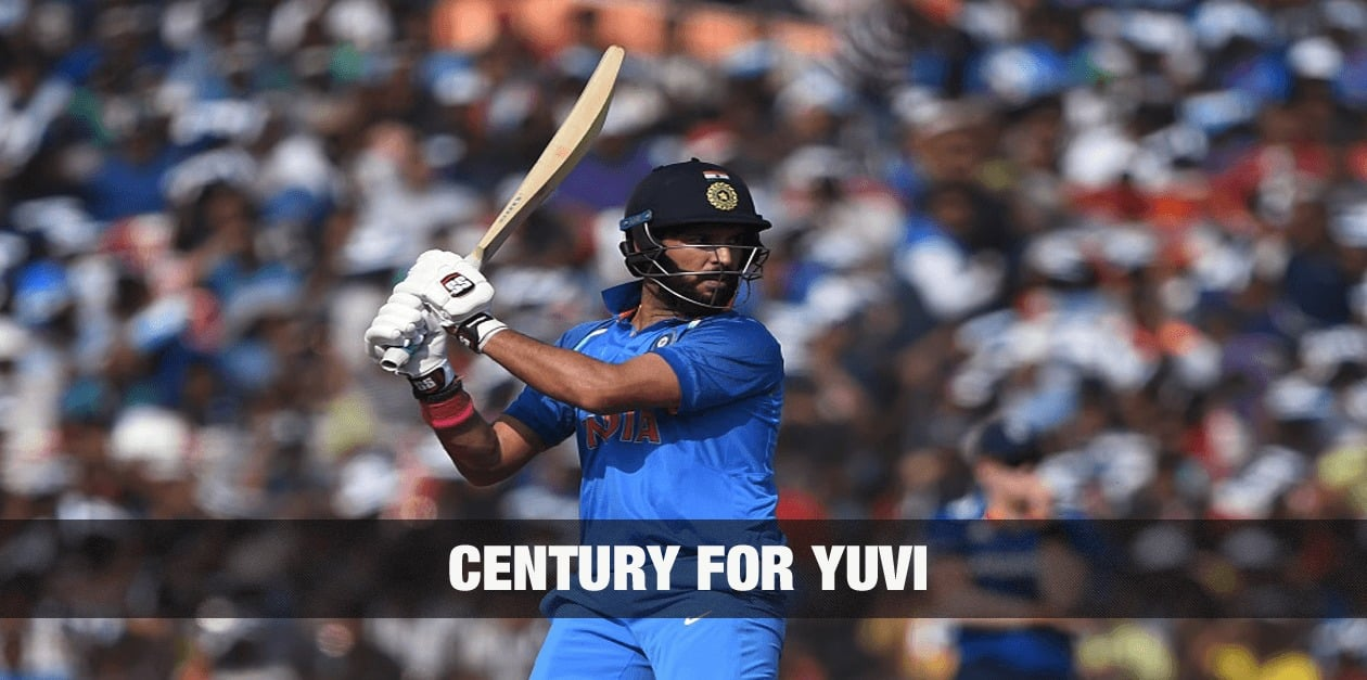 Century for Yuvraj, Half Century for Dhoni : 175+ Partnership 1