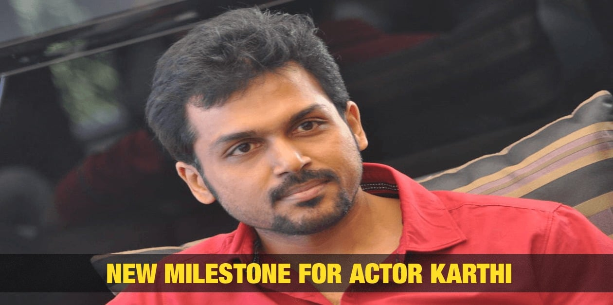 New Milestone for Actor Karthi 3