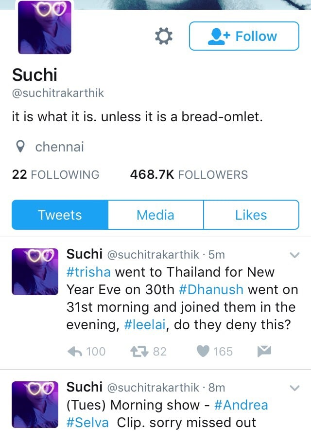 Top 10 Most Controversial Tweets by Suchitra 7