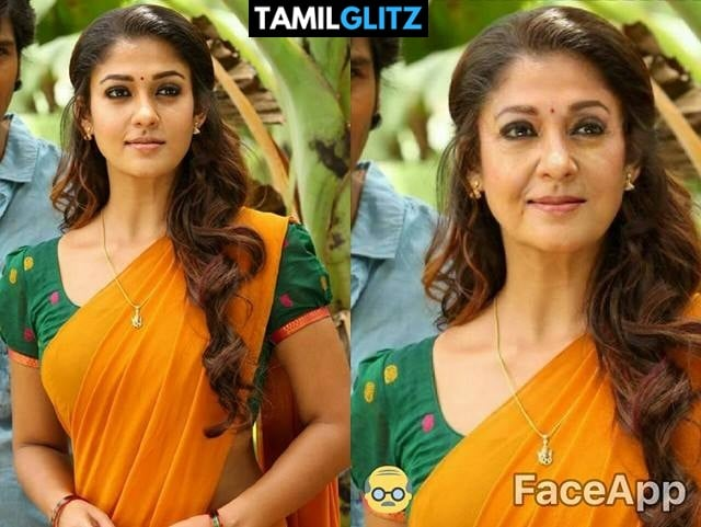 Top 10 Tamil Actress as Grandma - Faceapp Edit 26
