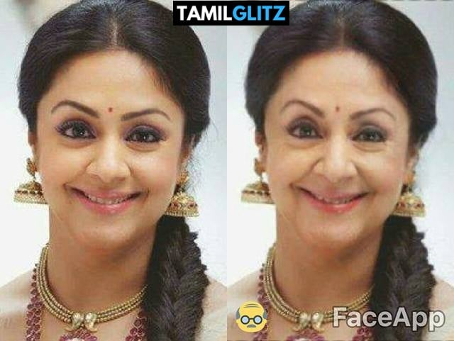Top 10 Tamil Actress as Grandma - Faceapp Edit 23