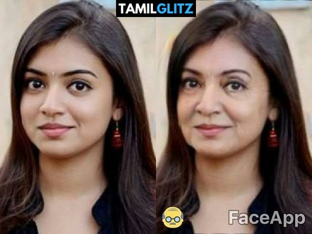 Top 10 Tamil Actress as Grandma - Faceapp Edit 28
