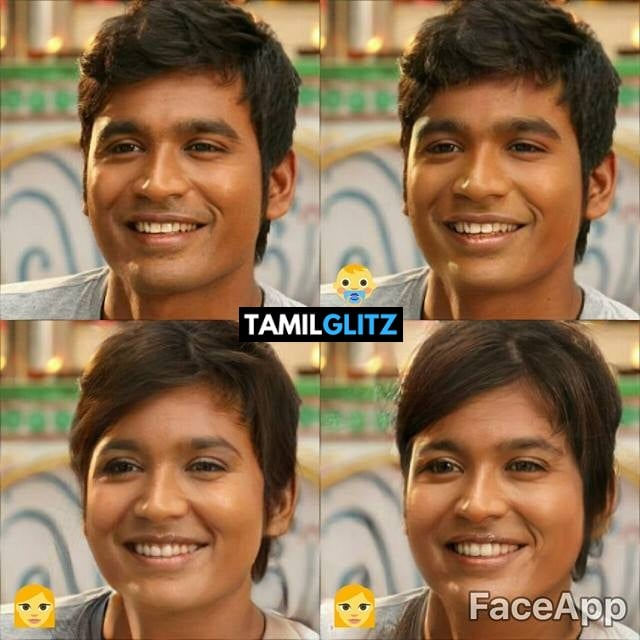 Top 10 Tamil Actors in Faceapp Edits 3