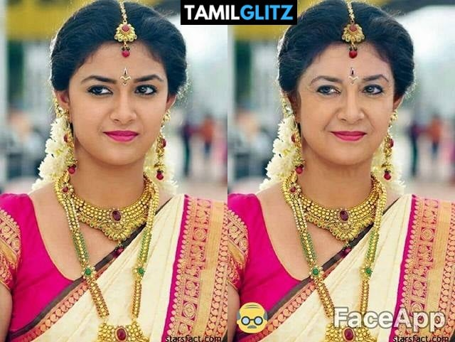 Top 10 Tamil Actress as Grandma - Faceapp Edit 29