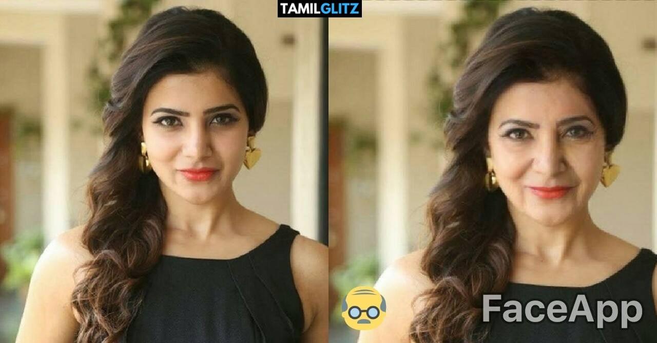 Top 10 Tamil Actress as Grandma - Faceapp Edit 10