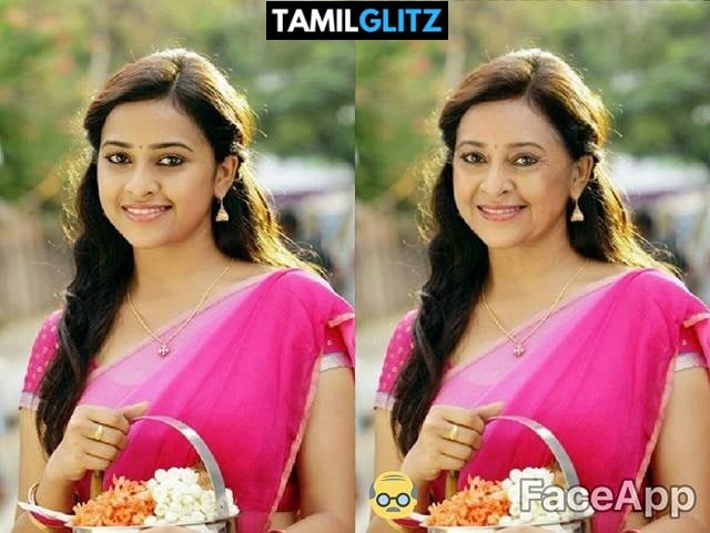 Top 10 Tamil Actress as Grandma - Faceapp Edit 22