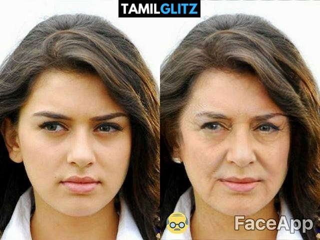 Top 10 Tamil Actress as Grandma - Faceapp Edit 21