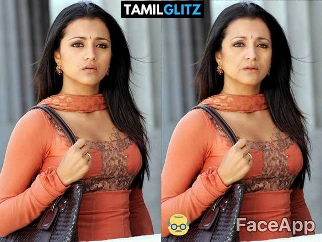 Top 10 Tamil Actress as Grandma - Faceapp Edit 25