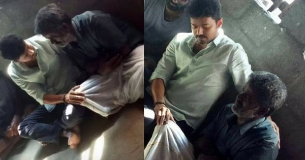 Vijay Visits Anitha's House to console her parents 1