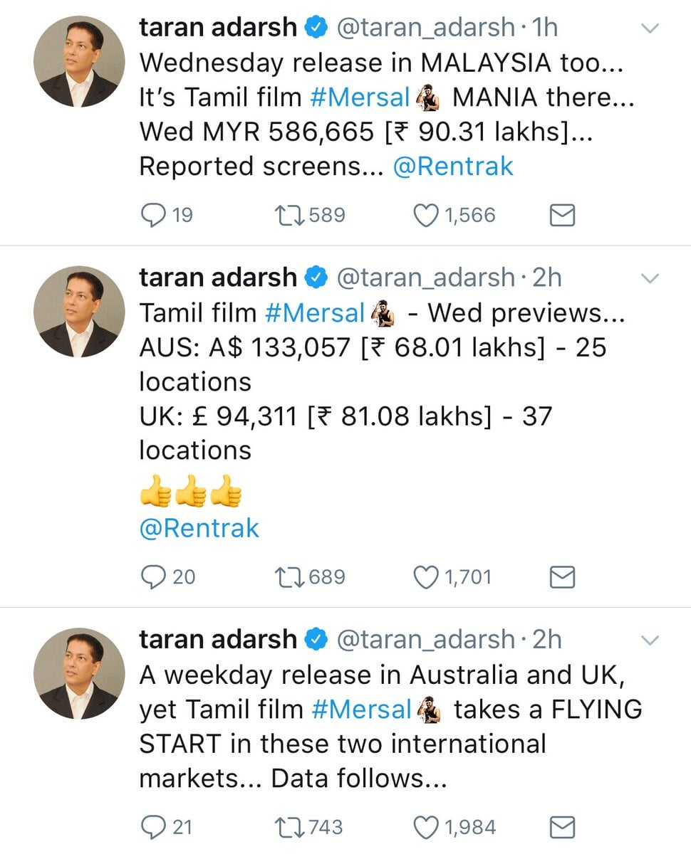 Mersal Box Office Collection | Day 1 Worldwide Collections [Updated] 3