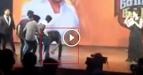 Actor Surya Touching Fan's Feet 1