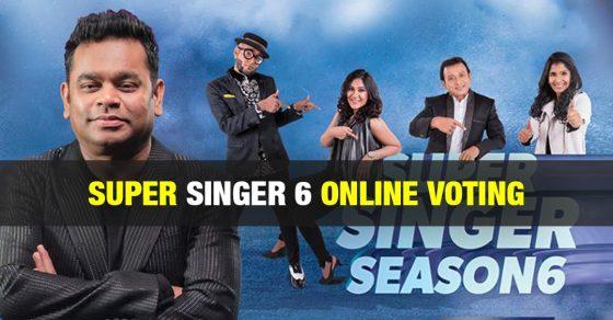 Super Singer Vote Junior 7 - Online Voting - Season 7 - Vijay TV 1