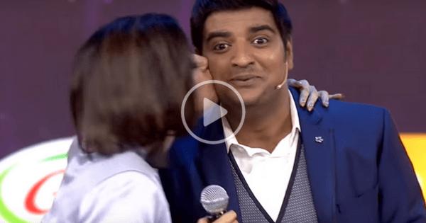 Oviya Kisses Sathish & Robo Shankar on Stage 2