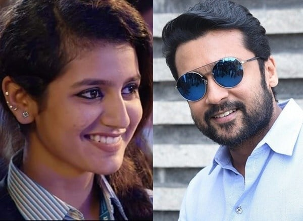 Priya Warrier Pair With Suriya For Her First Tamil Movie 1