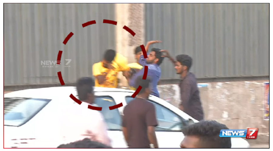 CSK fans Attacked by Protesters 1