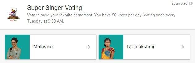Super Singer Vote Tamil