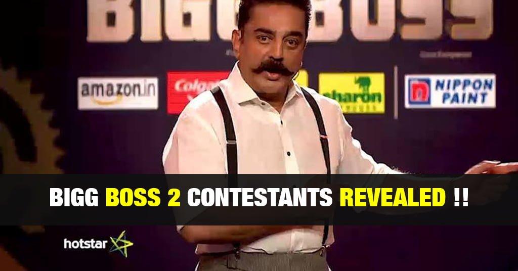 Bigg Boss Tamil 2 Contestants [ Official ] - TamilGlitz