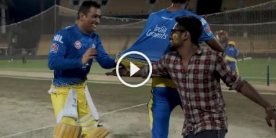 MSD playing with a Fan | CSK