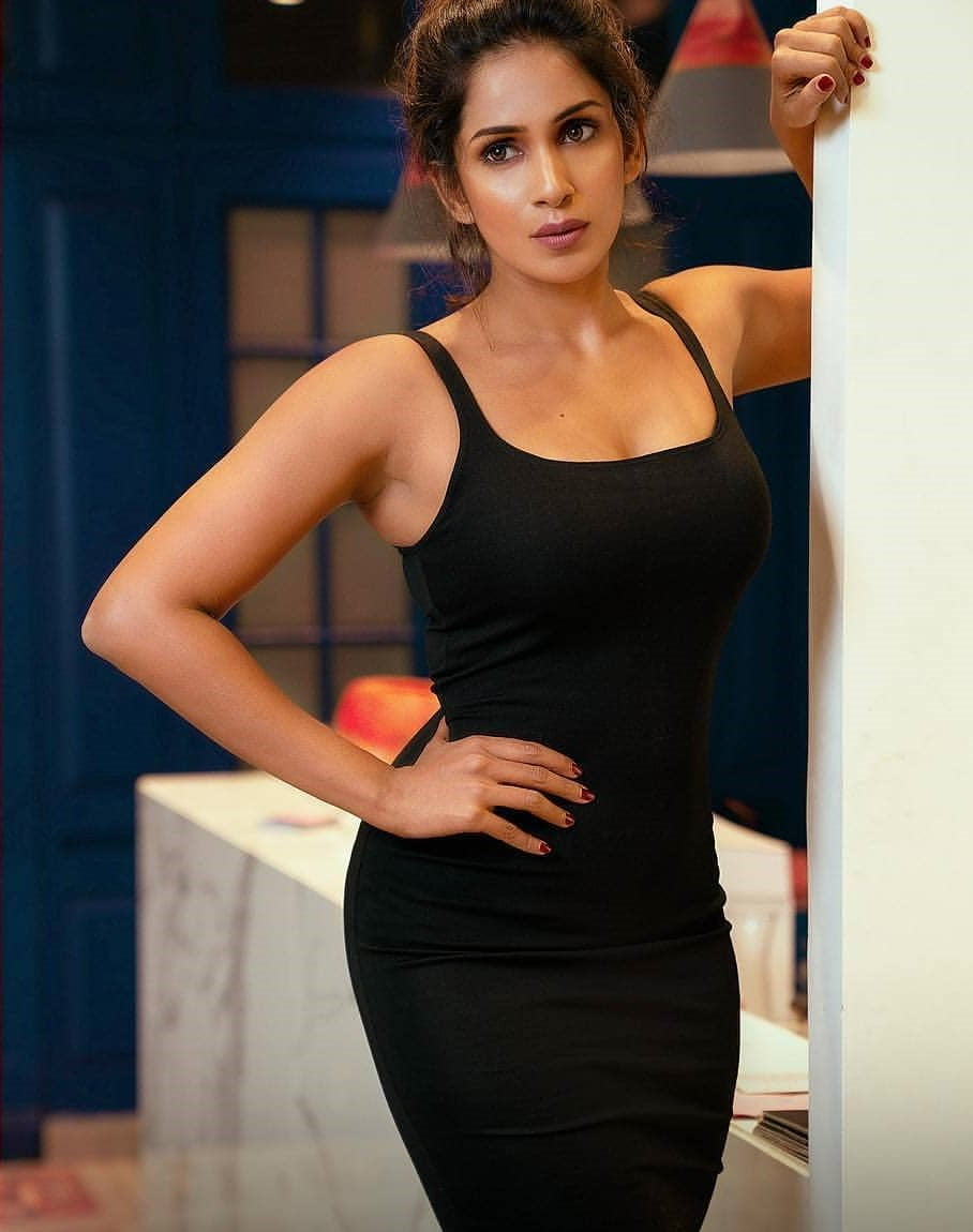 Samyuktha in Black Dress