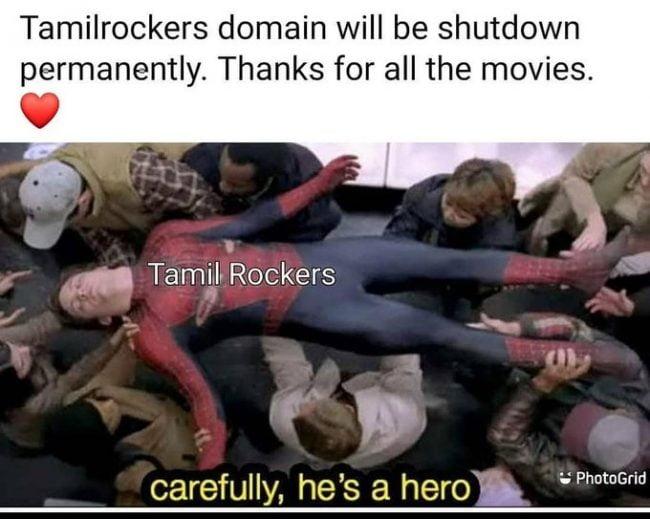 Tamilrockers Shutdown memes