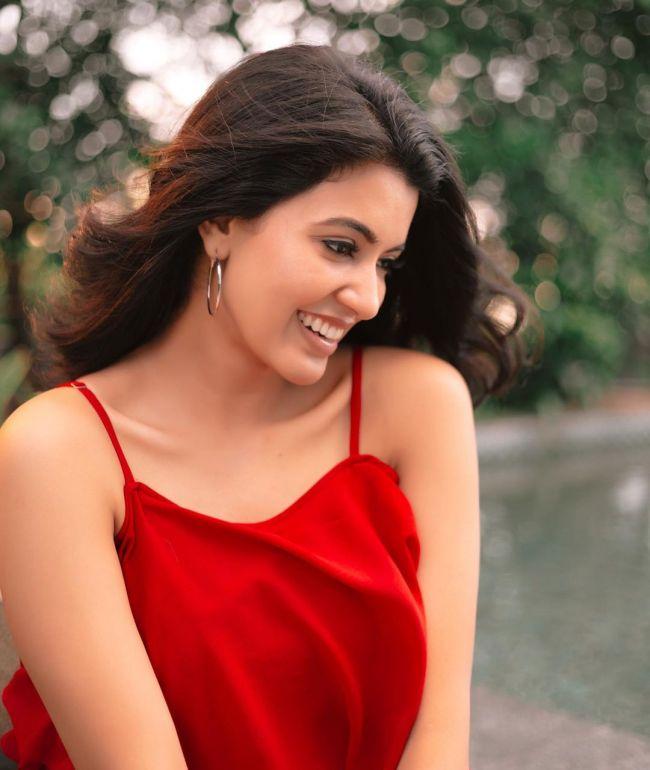 Anju Kurian in Red