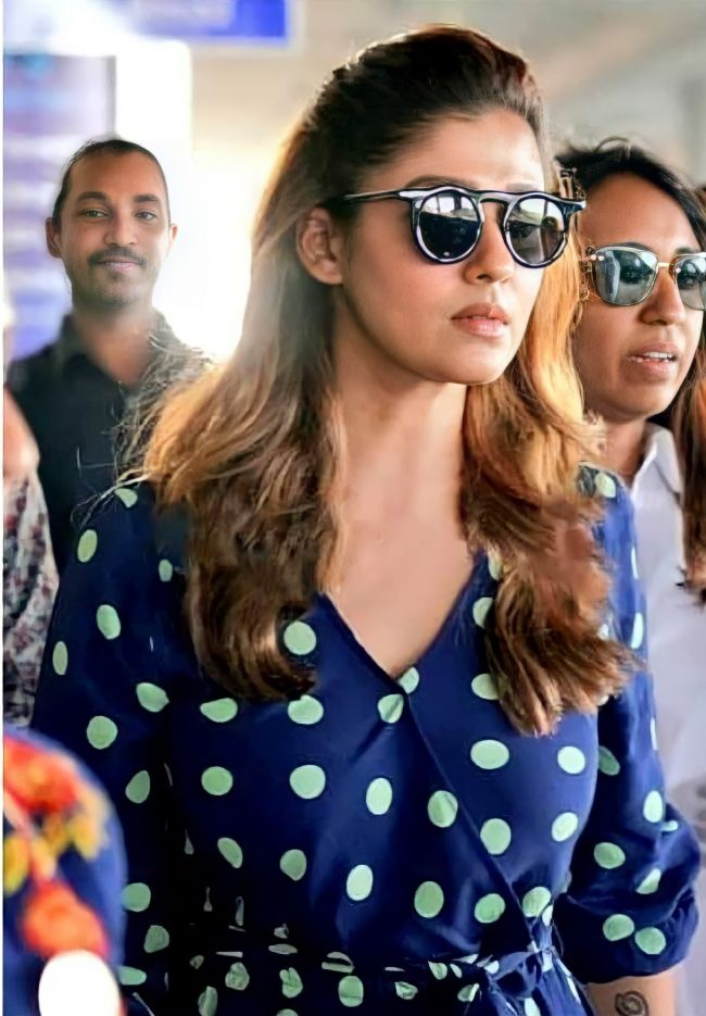 Nayanthara spotted at Airport
