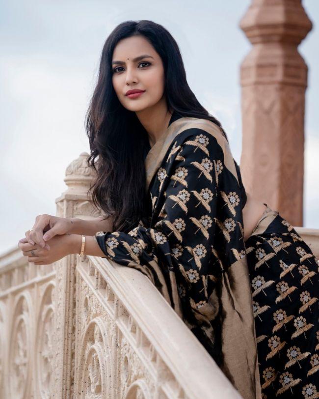 Priya AnandBlack Saree