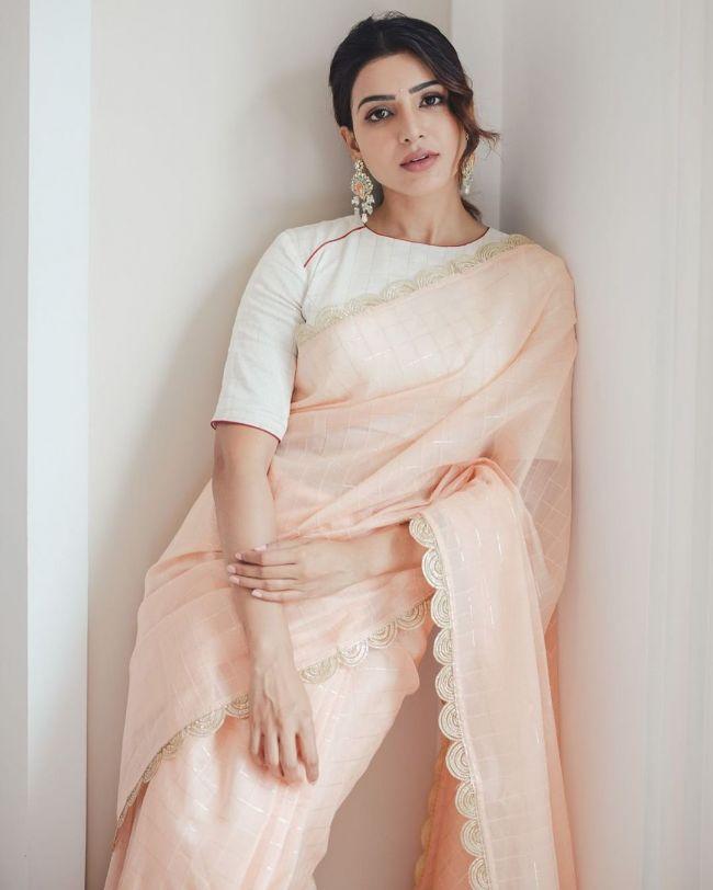 Samantha Akkineni in White Saree