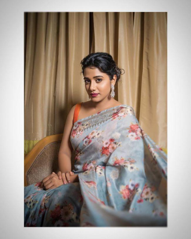 Shilpa Manjunath Saree