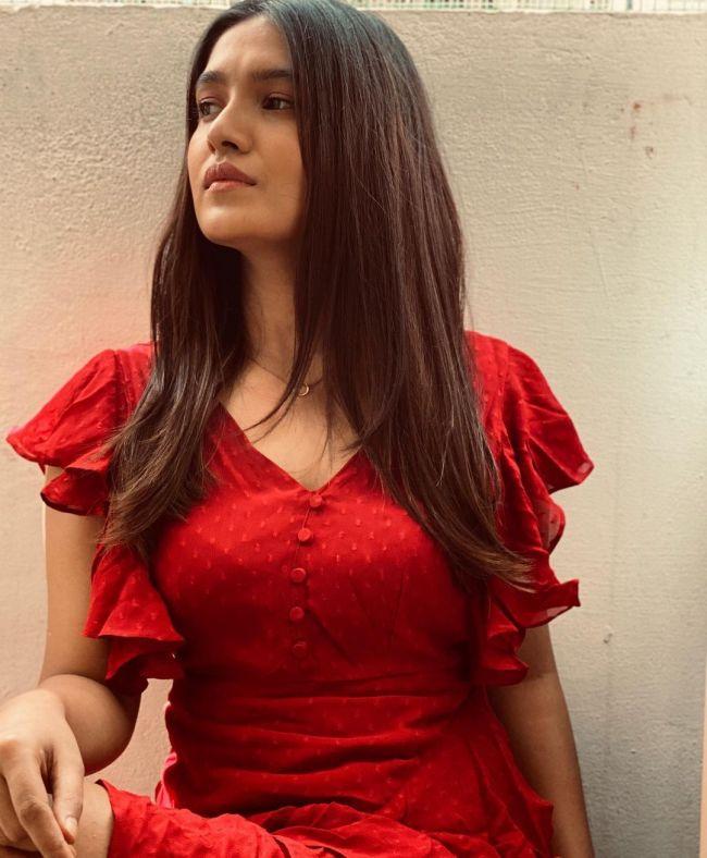 Vani Bhojan Red Dress
